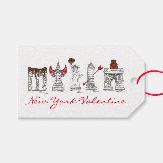 New York City Valentine NYC Landmarks Gift Tag