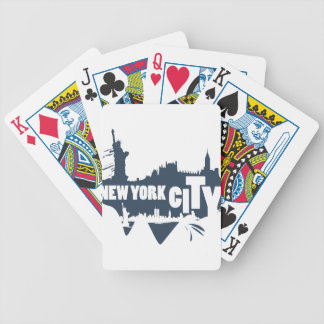 New York City - Vector Bicycle Playing Cards