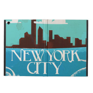 New York City vintage travel poster iPad Air Cover