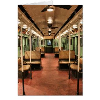 New York City, Vintage Trolley Car Card