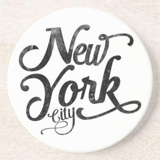 New York City vintage typography Coaster