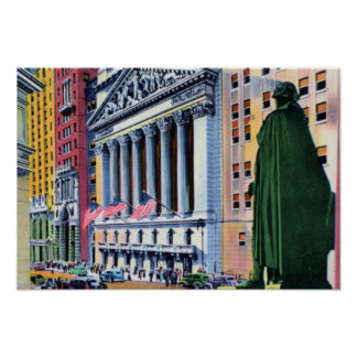 New York City Wall Street Poster