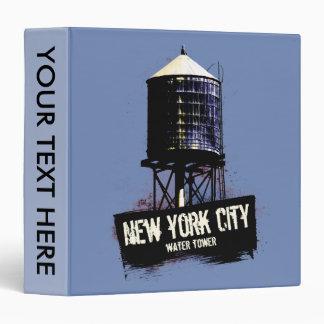 New York City Water Tower Binder
