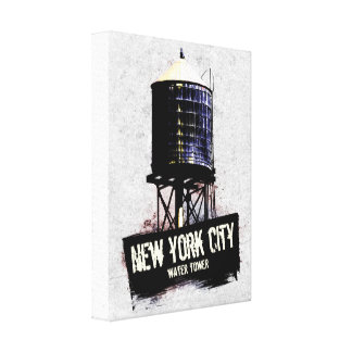 New York City Water Tower Canvas Stretched Canvas Print