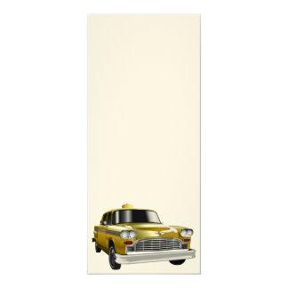 "New York City Yellow Vintage Cab 4"" X 9.25"" Invitation Card"