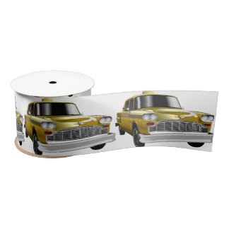 New York City Yellow Vintage Cab Satin Ribbon