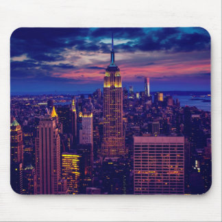 New York Cityscape at Night Mouse Pad