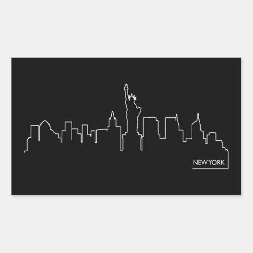 New York cityscape Sticker