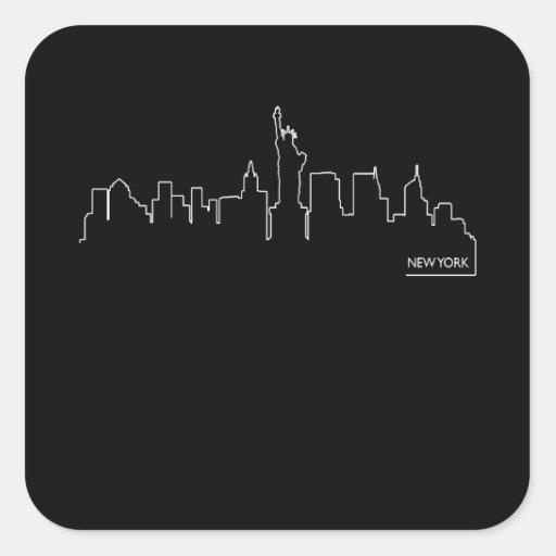 New York cityscape Square Stickers