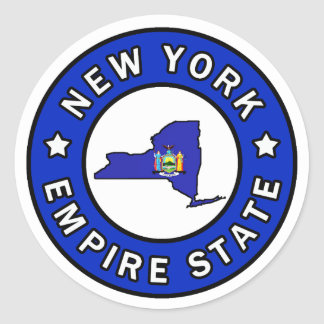 New York Classic Round Sticker
