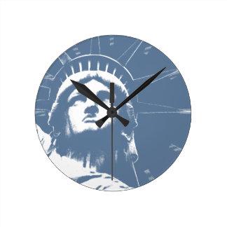 New York  Clock Statue of Liberty Wall Clock