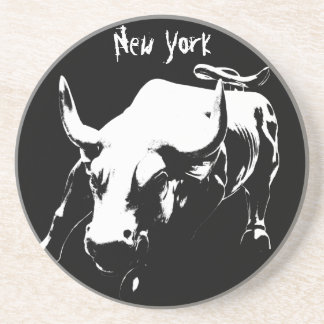 New York Coaster NY Landmark Bull Souvenir Coaster