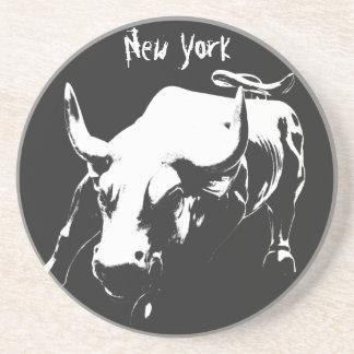 New York Coaster NY Landmark Bull Souvenir Coaster