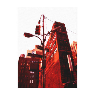 New York Color - Red Way Canvas Print
