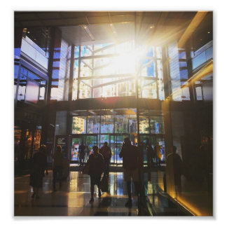 New York Columbus Circle Shoppers Sunlight NYC Photo Print