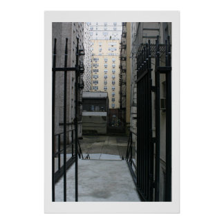 New York Courtyard Poster