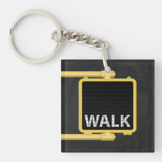 New York Crosswalk Sign Walk Keychain