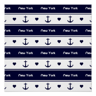 New York cruises pattern Perfect Poster