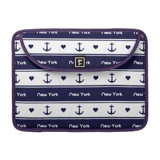 New York cruises pattern Sleeves For MacBooks