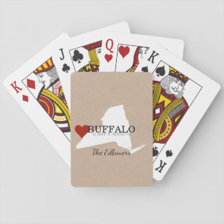 New York Custom GPS Coordinate Playing Cards