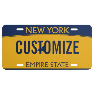 New York Custom License Plate