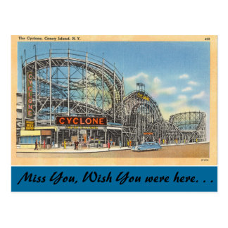 New York, Cyclone, Coney Island Postcard