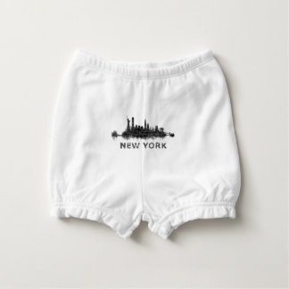 New York Dark-White Skyline v07 Diaper Cover