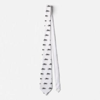 New York Dark-White Skyline v07 Tie