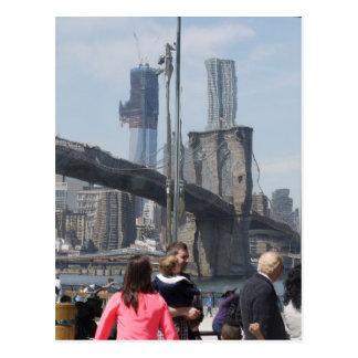 New York Distorted Postcard