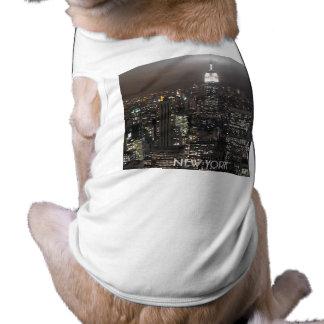 New York Dog T-shirt New York Pet Souvenir Shirt