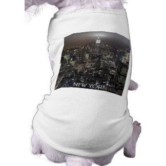 New York Dog T-shirt New York Pet Souvenir Shirt