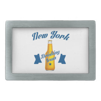 New York Drinking team Rectangular Belt Buckle