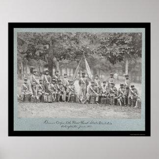 New York Drum Corps in Arlington, VA 1861 Poster