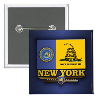 New York (DTOM) 2 Inch Square Button