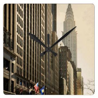 New York, E 42 St and Chrysler Building Wallclocks