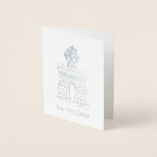 New York Easter Basket NYC Washington Square Arch Foil Card