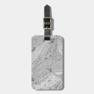 New York: El Train, C1878 Luggage Tag