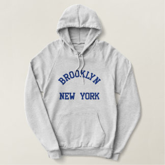 New York Embroidered Hoodie