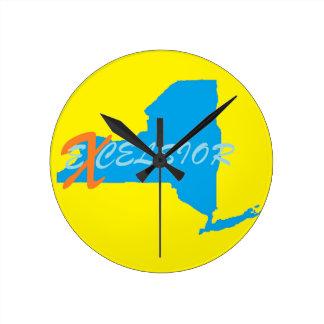 New York excelsior Round Wall Clock Medium
