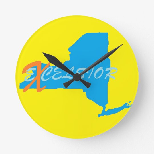 New York excelsior Round Wall Clock Medium