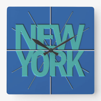 New York Finance Timezone Wall Clock