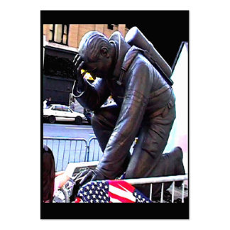New York Fireman Art 2009~1 jGibney Trading Card Large Business Card