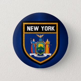New York Flag 2 Inch Round Button