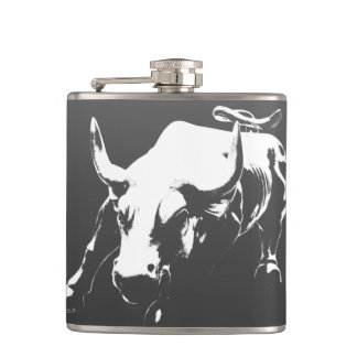 New York Flasks NYC Souvenir Bull Statue Flask