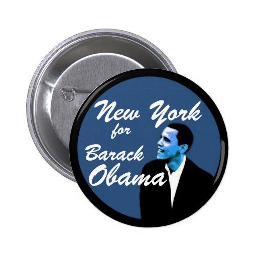 New York for Barack Obama Pins