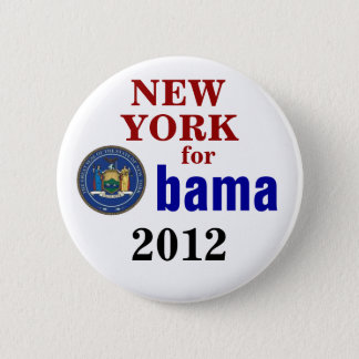 New York for Obama 2 Inch Round Button