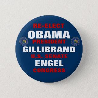 New York for Obama Gillibrand Engel 2 Inch Round Button