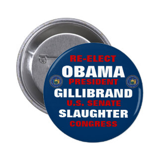 New York for Obama Gillibrand Slaughter 2 Inch Round Button
