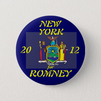 New York for Romney 2012 2 Inch Round Button