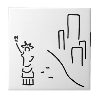 New York freedom statue empire wolkenkratzer Tile